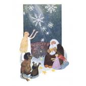 Tove Jansson -joulukortti - Joulupukki, enkelit ja peikot