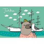 Turku-postikortti - Suomen Joutsen