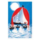 Tove Jansson -muumipostikortti - Vaarallinen juhannus