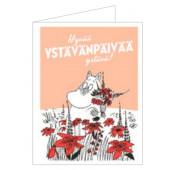 Muumi-kortti - Hyvää ystävänpäivää ystävä! (2-os. kohopainettu)