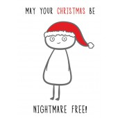 Finnish Nightmares -joulukortti - May your Christmas be nightmare free!